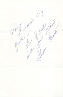 PHYLLIS COATES - AUTOGRAPH NOTE SIGNED