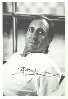THE WHO (PETER TOWNSHEND) - AUTOGRAPHED SIGNED PHOTOGRAPH
