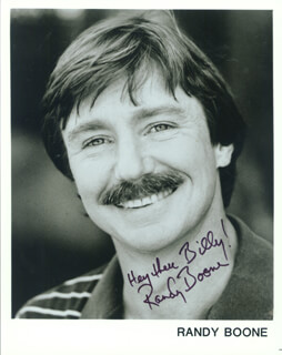 RANDY BOONE - AUTOGRAPHED INSCRIBED PHOTOGRAPH