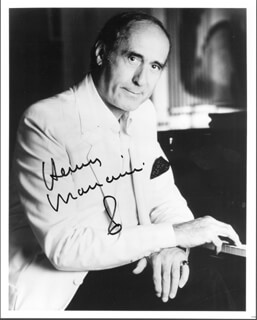 HENRY MANCINI - AUTOGRAPHED SIGNED PHOTOGRAPH