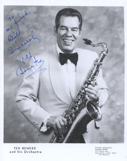 GLENN MILLER BAND (TEX BENEKE) - AUTOGRAPHED INSCRIBED PHOTOGRAPH