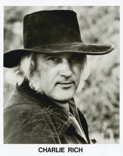 CHARLIE RICH - AUTOGRAPHED INSCRIBED PHOTOGRAPH