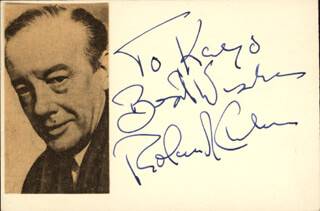 ROLAND CULVER - AUTOGRAPH NOTE SIGNED