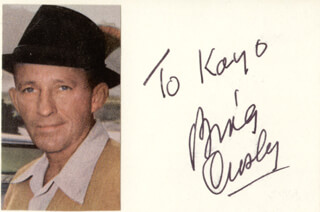 BING CROSBY - INSCRIBED SIGNATURE