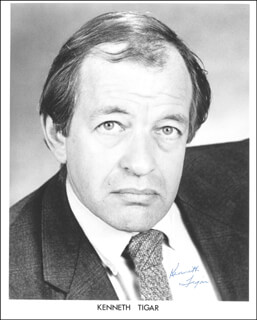 KENNETH TIGAR - AUTOGRAPHED SIGNED PHOTOGRAPH