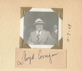LLOYD CORRIGAN - CLIPPED SIGNATURE