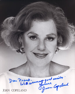 JOAN COPELAND - AUTOGRAPHED INSCRIBED PHOTOGRAPH