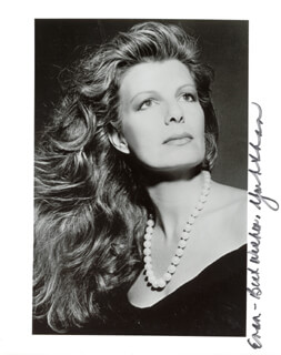 Autographs: PRINCESS YASMIN AGA KHAN (SWITZERLAND) - INSCRIBED PHOTOGRAPH SIGNED