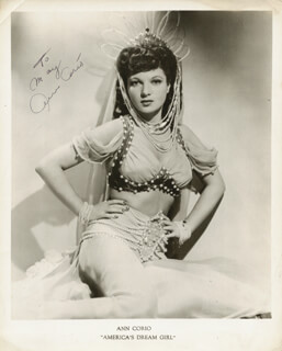 ANN CORIO - AUTOGRAPHED INSCRIBED PHOTOGRAPH