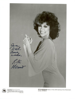 RITA MORENO - AUTOGRAPHED INSCRIBED PHOTOGRAPH
