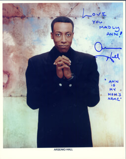 ARSENIO HALL - AUTOGRAPHED SIGNED PHOTOGRAPH