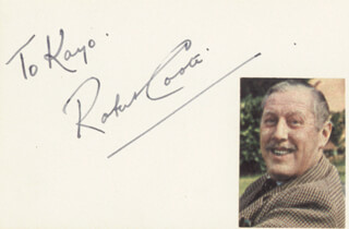 Autographs: ROBERT COOTE - INSCRIBED SIGNATURE
