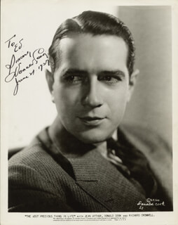 DONALD COOK - AUTOGRAPHED INSCRIBED PHOTOGRAPH 06/21/1937
