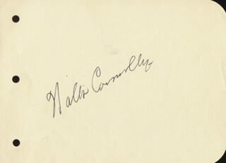WALTER CONNOLLY - AUTOGRAPH