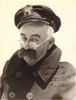 CHESTER CONKLIN - AUTOGRAPHED INSCRIBED PHOTOGRAPH