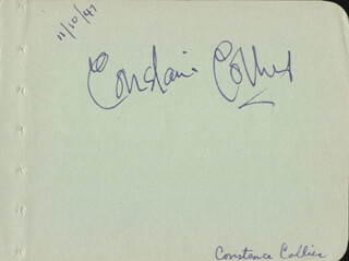 CONSTANCE COLLIER - AUTOGRAPH CIRCA 1947 CO-SIGNED BY: ARLENE DAHL