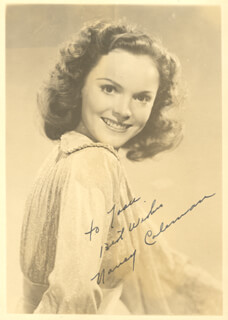 NANCY COLEMAN - AUTOGRAPHED INSCRIBED PHOTOGRAPH