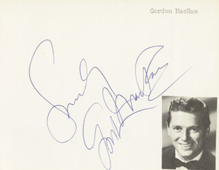 GORDON MacRAE - AUTOGRAPH SENTIMENT SIGNED