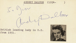 AUDREY DALTON - INSCRIBED SIGNATURE