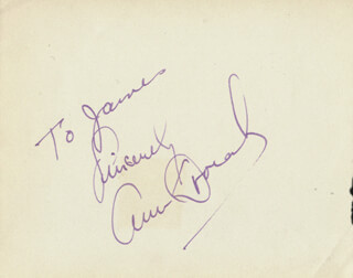 ANN DVORAK - INSCRIBED SIGNATURE CO-SIGNED BY: PENELOPE DUDLEY-WARD