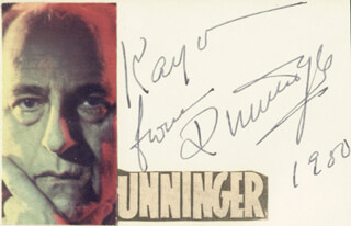 JOSEPH DUNNINGER - AUTOGRAPH NOTE SIGNED 1950