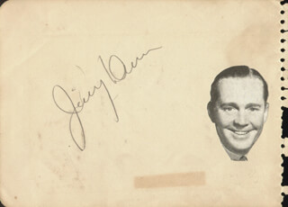 JAMES DUNN - AUTOGRAPH CO-SIGNED BY: WARREN HULL