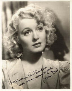 ELLEN DREW - AUTOGRAPHED INSCRIBED PHOTOGRAPH