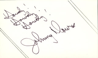 JOHNNY DOWNS - AUTOGRAPH SENTIMENT SIGNED