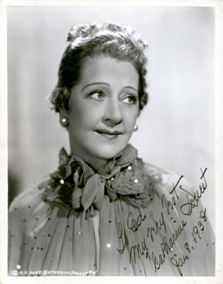 CATHARINE DOUCET - AUTOGRAPHED INSCRIBED PHOTOGRAPH 01/08/1938