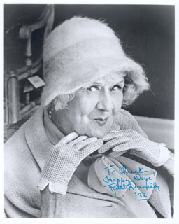 RUTH DONNELLY - AUTOGRAPHED INSCRIBED PHOTOGRAPH 1982
