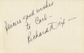 RICHARD DIX - AUTOGRAPH NOTE SIGNED