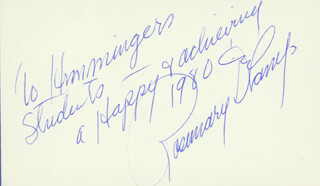 ROSEMARY DECAMP - AUTOGRAPH NOTE SIGNED 1980