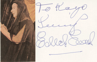 DAME EDITH EVANS - AUTOGRAPH NOTE SIGNED