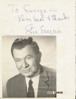 STUART ERWIN - INSCRIBED SIGNATURE CIRCA 1957 CO-SIGNED BY: WILLIAM F. KNOWLAND, ELMER PETERSON