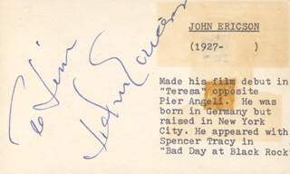 JOHN ERICSON - INSCRIBED SIGNATURE