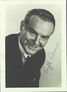 RALPH EDWARDS - AUTOGRAPHED SIGNED PHOTOGRAPH
