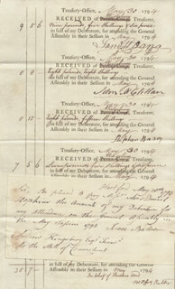 Autographs: ANDREW KINGSBURY - DOCUMENT MULTI-SIGNED 05/30/1794
