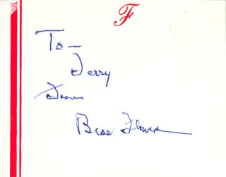 BESS FLOWERS - AUTOGRAPH NOTE SIGNED