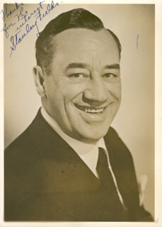 STANLEY FIELDS - AUTOGRAPHED SIGNED PHOTOGRAPH