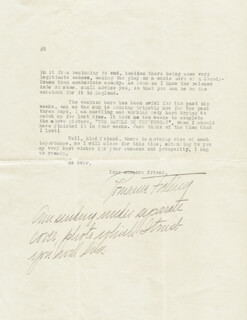 ROMAINE FIELDING - TYPED LETTER SIGNED 04/21/1914
