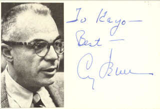 CY FEUER - AUTOGRAPH NOTE SIGNED