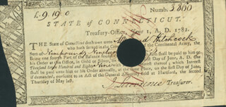 Autographs: JOHN LAWRENCE - PROMISSORY NOTE ENDORSED 06/01/1782