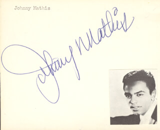 JOHNNY MATHIS - AUTOGRAPH