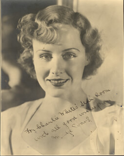 MADGE EVANS - AUTOGRAPHED INSCRIBED PHOTOGRAPH