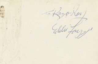 EDDIE FOY JR. - INSCRIBED CARD SIGNED