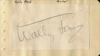 WALLACE WALLY FORD - AUTOGRAPH