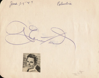 GLENN FORD - AUTOGRAPH CIRCA 1947 CO-SIGNED BY: EVELYN KEYES