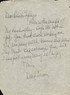 DICK FORAN - AUTOGRAPH LETTER SIGNED