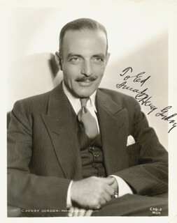 C. HENRY GORDON - AUTOGRAPHED INSCRIBED PHOTOGRAPH