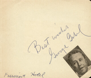 GEORGE GOBEL - AUTOGRAPH SENTIMENT SIGNED